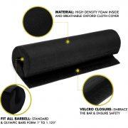 a2zcare squat barbell pad bar pad squat pad squat bar curshion black protect pad for squat black blue