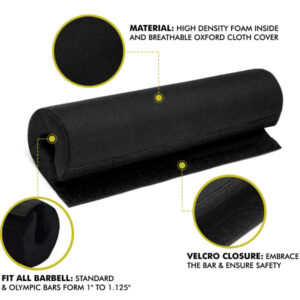 a2zcare squat barbell pad bar pad squat pad squat bar curshion black protect pad for squat black blue