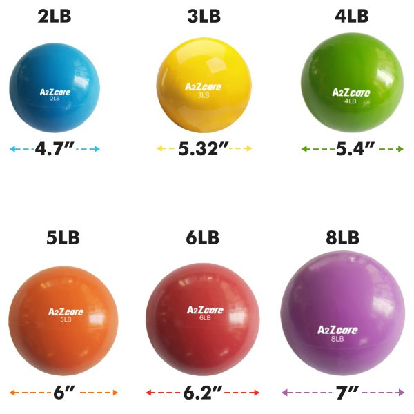 ... a2zcare toning ball medicine ball weighted ball soft weight balls  exercise ball 2lb 3lb 4lb 5lb ...