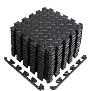 puzzle exercise mat interlocking foam tiles excercise foam mat border black gray 12 inches 12 species