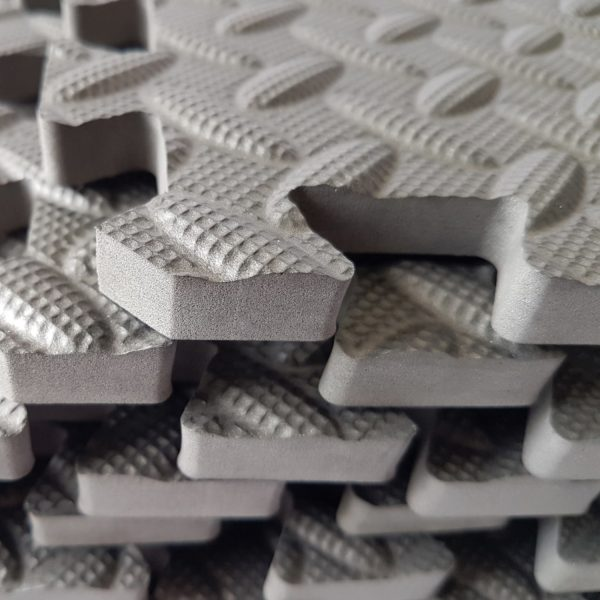 AZCare Puzzle Exercise Mat With EVA Foam Interlocking Tiles - Black and white interlocking floor mats