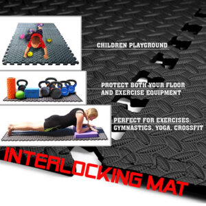 a2zcare interlocking foam mats interlocking foam tiles excercise foam mat border black gray 12 inches 12 species