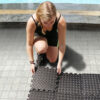 a2zcare interlocking foam mats interlocking foam tiles excercise foam mat border black gray 12 inches 12 species