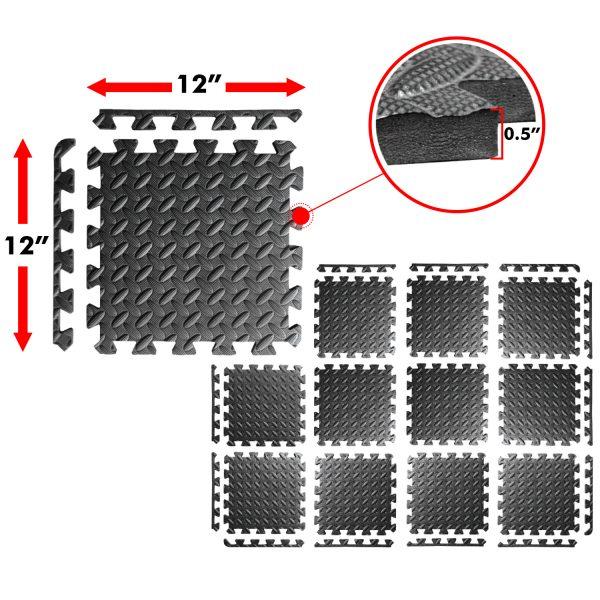 A2zcare Puzzle Exercise Mat With Eva Foam Interlocking
