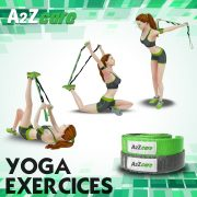 a2zcare stretch strap stretching strap stretch out strap strap for yoga green purple