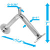 a2zcare v shaped bar v bar v shape bar tricep pressdown bar machine cable attachment