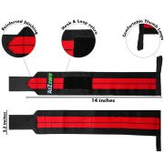 a2zcare wrist wraps protective straps for wrist wrist straps power lifting straps 14 inches 20 inches